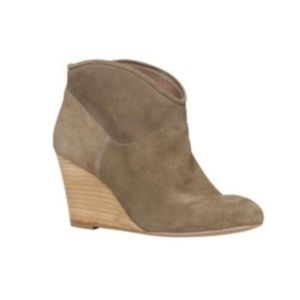 Aldo Figode Suede Wedge Ankle Boots